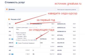 регистрация домена сколько стоит